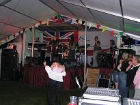 Welney Gala 2004, stage in marquee